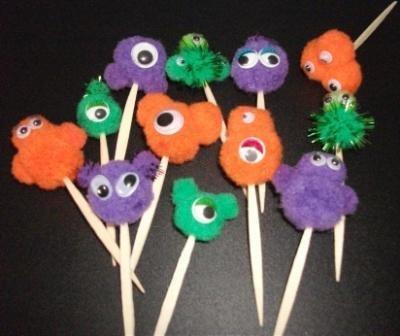 Muffin e CupCake Toppers^^ - Decorazioni per Dolci - Set 3D Mostrini per Halloween^^ (lotto 12pz)