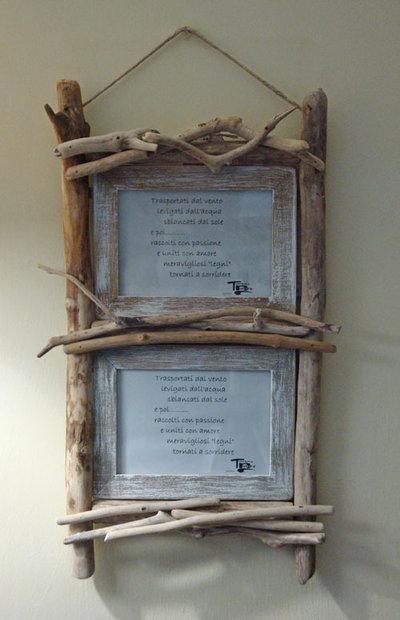 PORTAFOTO  in legni di mare, bois flottè, fatto a mano