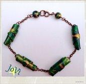 Braccialetto verde natura artigianale, fatto a mano, creazioni originali, made JoVì