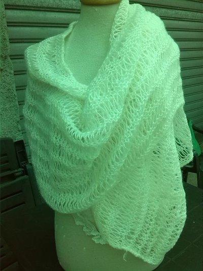 stola di lana panna