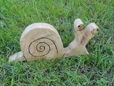 Chiocciola decorativa in legno