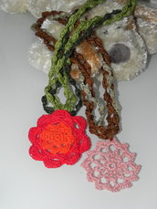 Collana perle di cotone