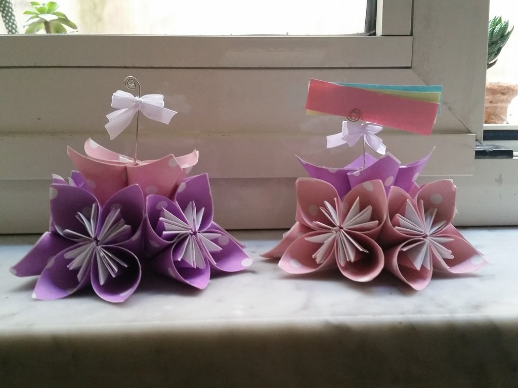 origami segnaposto portafoto...