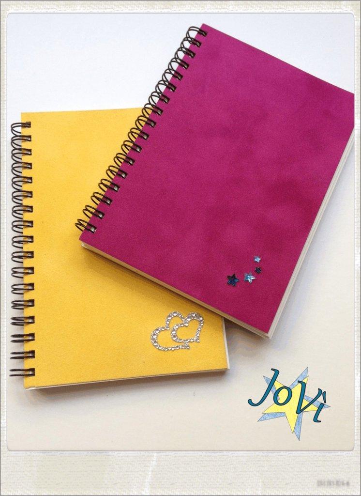 SALDI -20% Coppia Quaderni, Block Notes artigianali in velluto francese.