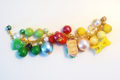 PANINO MON AMOUR ♥ CODICE 4 - Green and yellow - gold bracelet