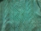 Maglione di lana lavorato a punto forato