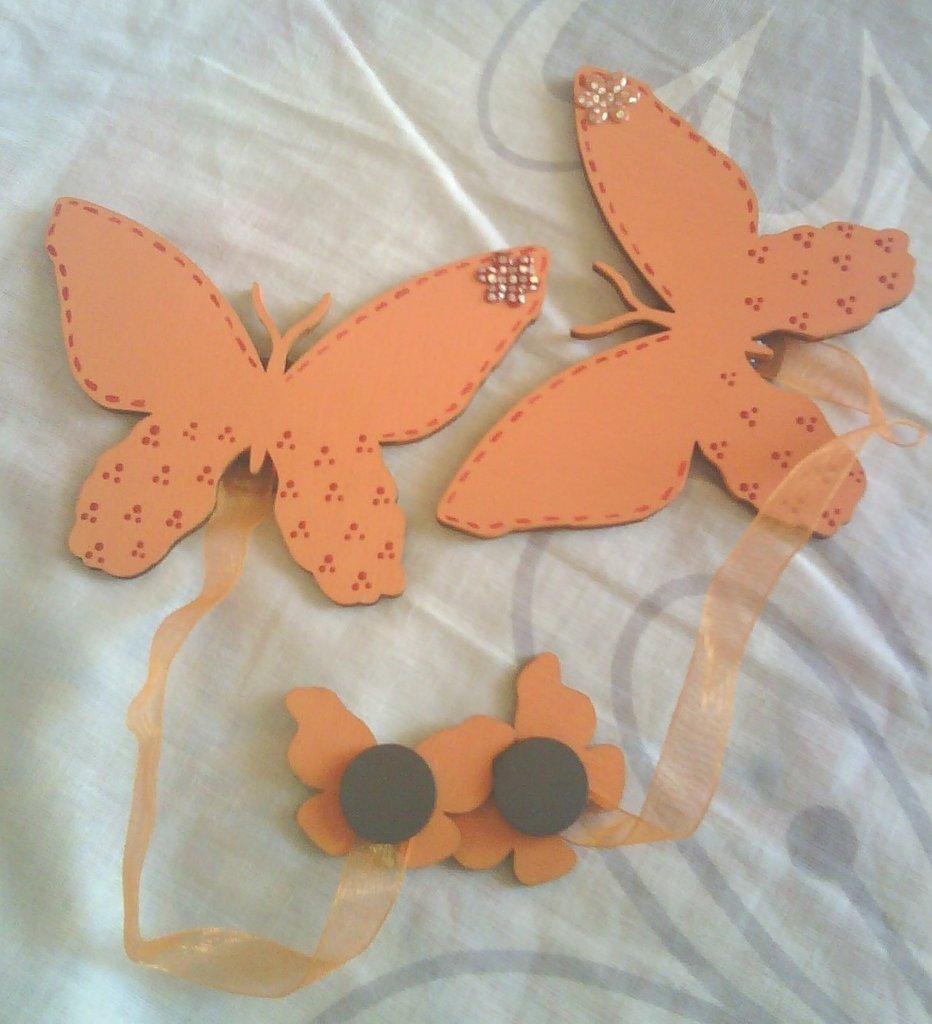 """Coppia di calamite per tende """"Farfalla"""""""
