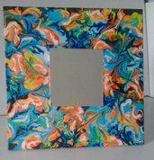 Specchio da appoggio con cornice dipinta a mano