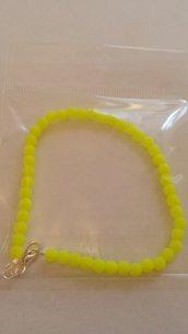 Bracciale giallo neon