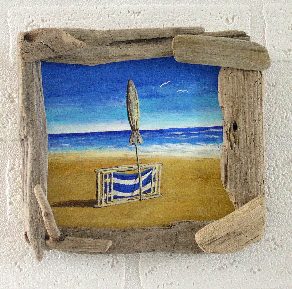 Fine di una estate con legni di mare fatto a mano per la for Piccoli oggetti in legno fatti a mano