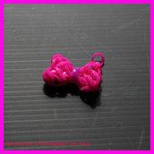 Fiocco con elastici colorati portachiavi, ciondolino o orecchino