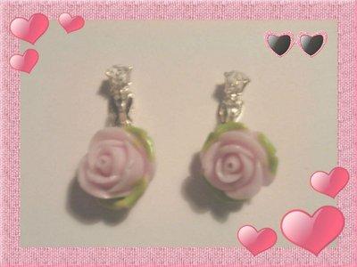 Orecchini Petali di Rosa con Clips