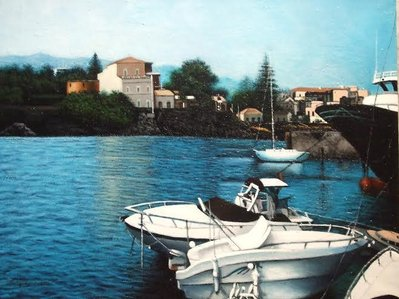 Motoscafi in riva al porto Ulisse-LEONARDO FALZONE