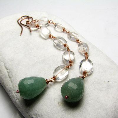 Orecchini lunghi, orecchini verdi - Green