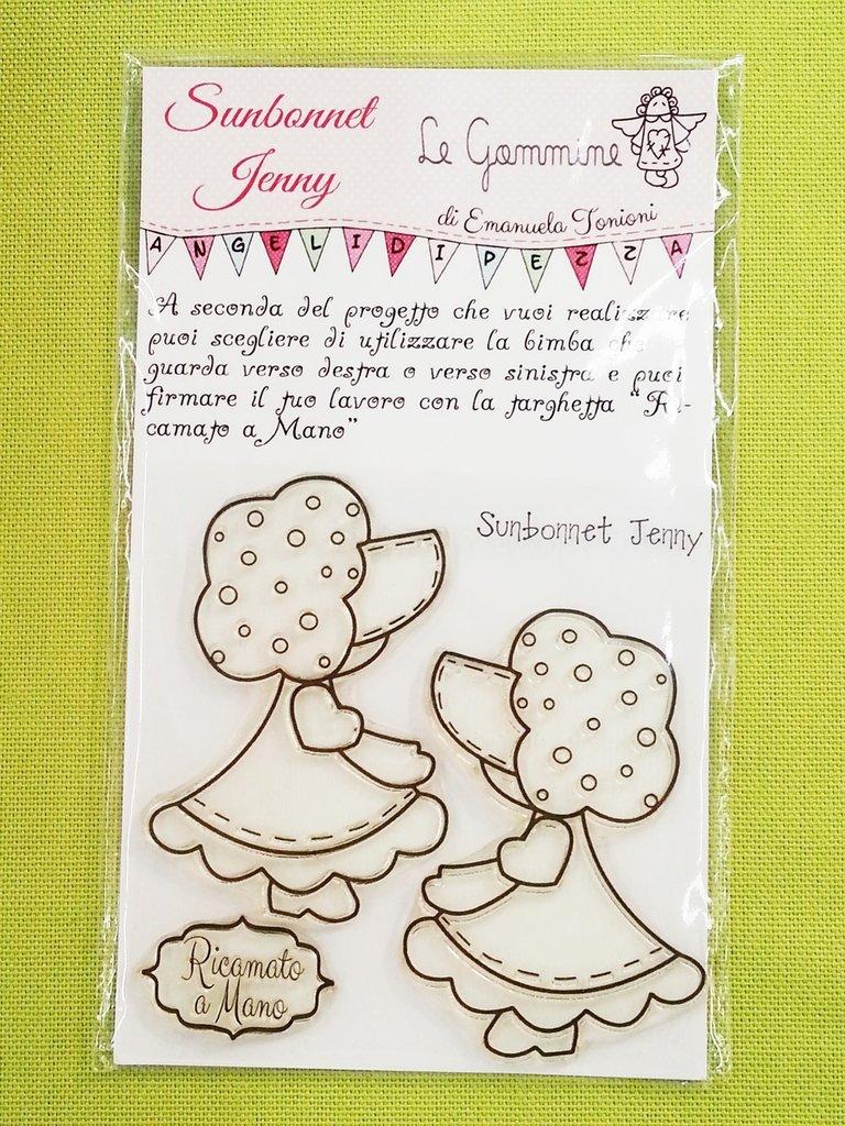 Le Gommine: timbri da ricamo - Sunbonnet Jenny