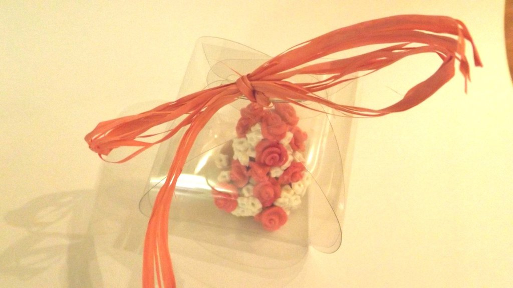 "MINI WEDDING CAKE - torta nuziale segnaposto bomboniera matrimonio FIMO - MODELLO  ""  ANNABELLE """
