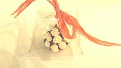 "MINI WEDDING CAKE - torta nuziale segnaposto bomboniera matrimonio FIMO - MODELLO  ""  CASSIEY  """