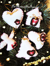 decorazioni albero con campanellino