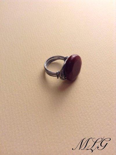 anello in pietra dura di diaspro