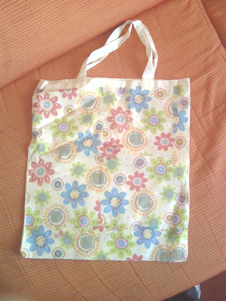 "borsa in cotone ""Flower power"""