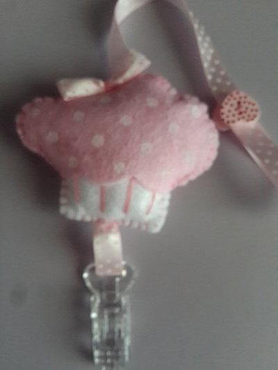 Portaciuccio cupcake in feltro fatto a mano