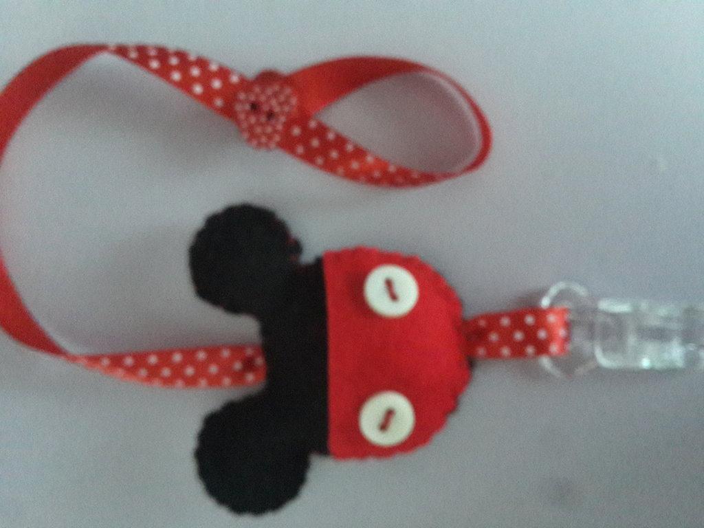 Portaciuccio topolino mickey mouse in feltro fatto a mano