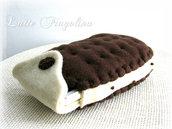 Custodia per cellulare smartphone - biscotto gelato,biscotto di cacao con crema