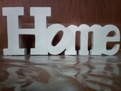scritta home in legno