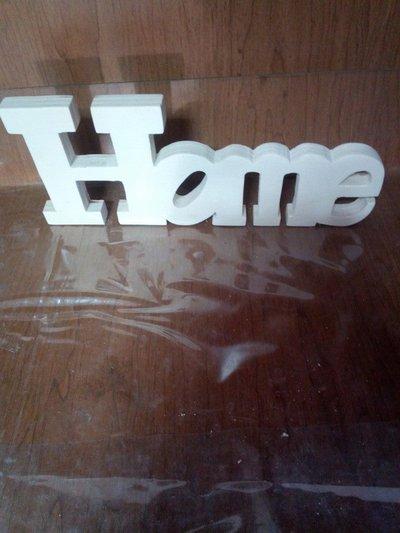 Scritta home in legno per la casa e per te decorare for Scritta home in legno
