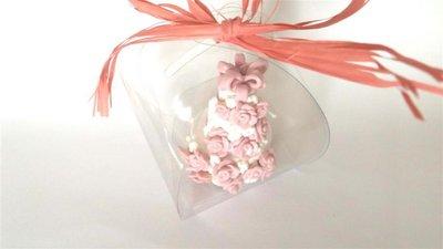 "MINI WEDDING CAKE - torta nuziale segnaposto bomboniera matrimonio FIMO - MODELLO  ""  HOLLIE  """