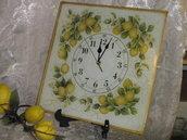Orologio in vetro limoni