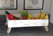 CASSETTA portafrutta  fatta a mano con legni di mare
