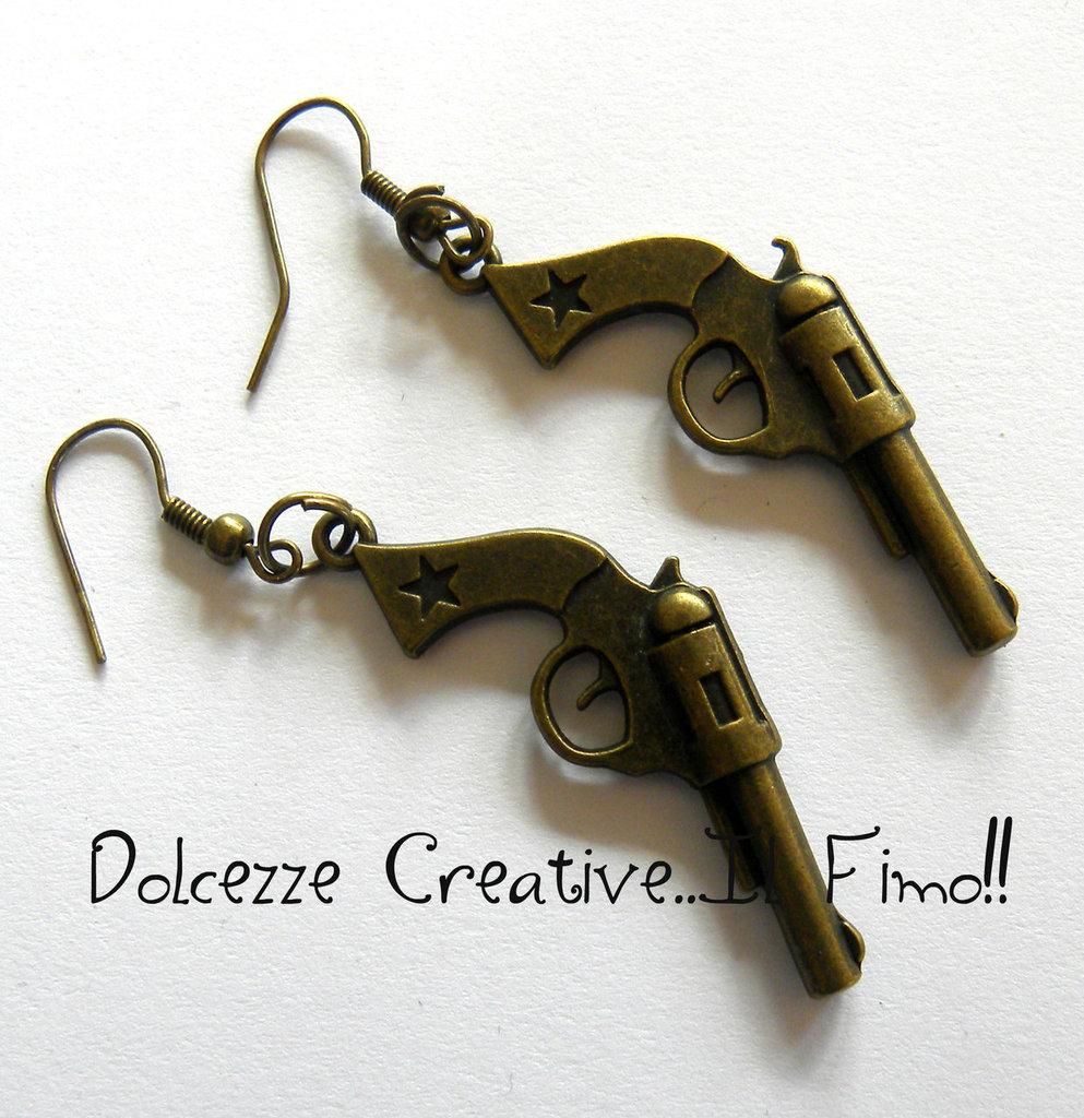 Orecchini Pistole idea regalo kawaii handmade