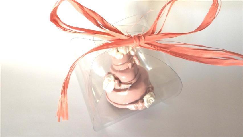 """MINI WEDDING CAKE - torta nuziale segnaposto bomboniera matrimonio FIMO - MODELLO  """"  JESSICA  """""""