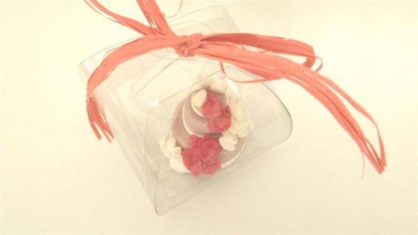 "MINI WEDDING CAKE - torta nuziale segnaposto bomboniera matrimonio FIMO - MODELLO  ""  JULIE  """