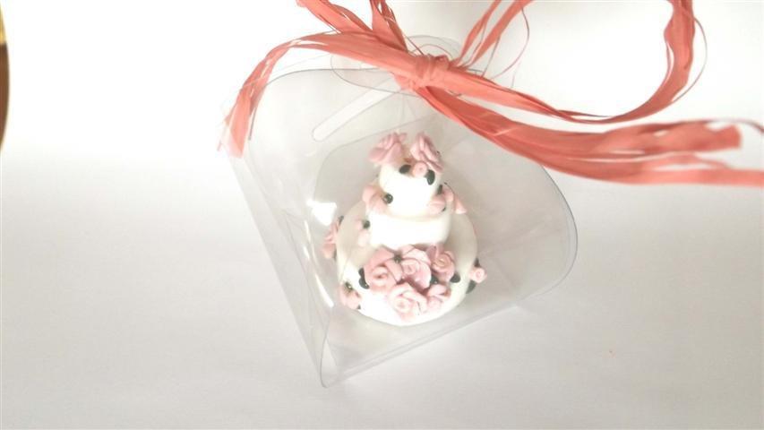 "MINI WEDDING CAKE - torta nuziale segnaposto bomboniera matrimonio FIMO - MODELLO  ""  LISA  """