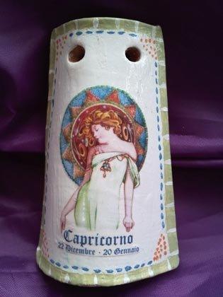 """Tegolina """"Capricorno"""" segni zodiacali"""