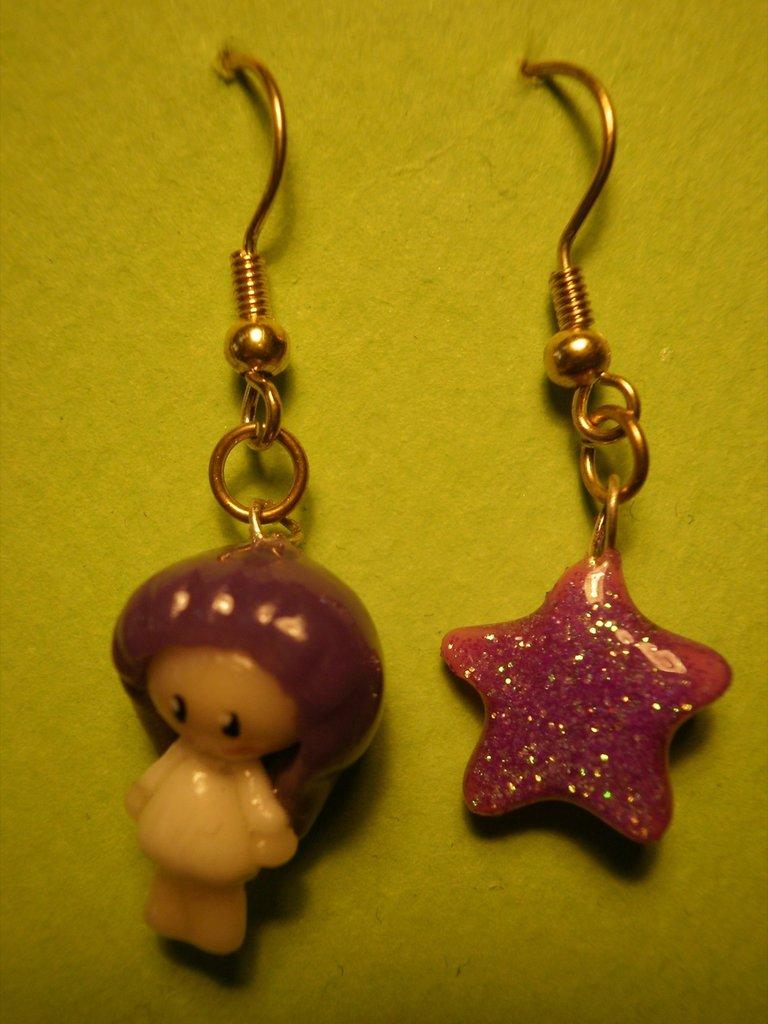 """orecchini """"bimba e stella"""""""