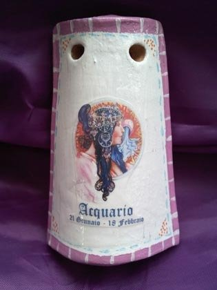 "Tegolina ""Acquario"" segni zodiacali"