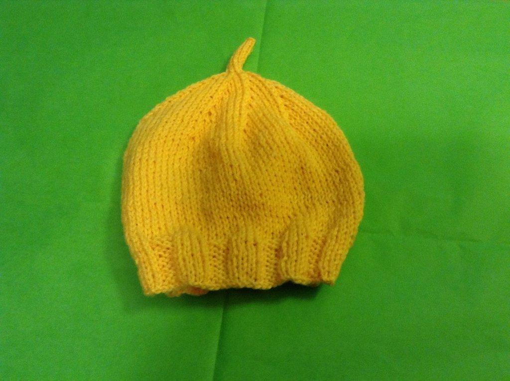 """Cappellino neonato """" limone """""""