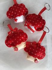 Cupcake portachiave in feltro fatto a mano