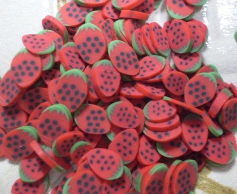 130 Fettine Fragola del Bosco da Polymer Clay Canes