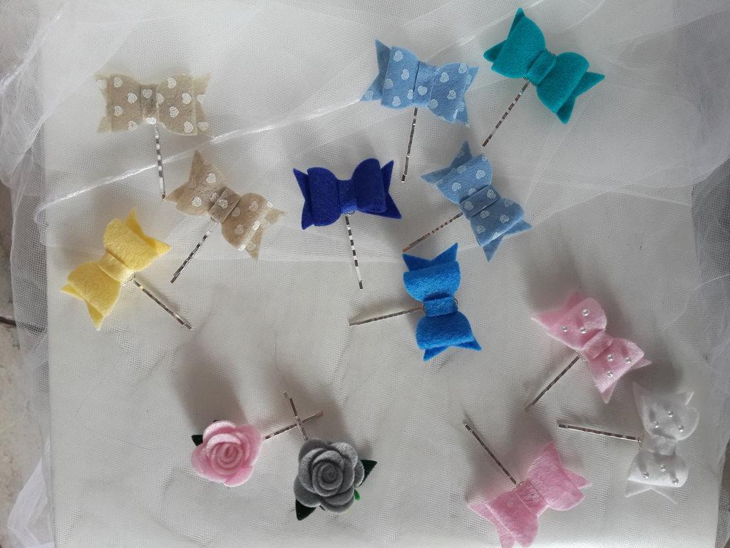 Conosciuto Forcine con fiocchi di feltro fatti a mano - Donna - Accessori  KD47