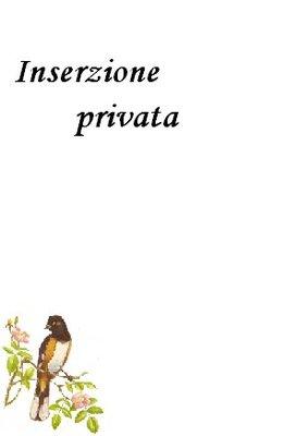 INSERZIONE PRIVATA PER DANI