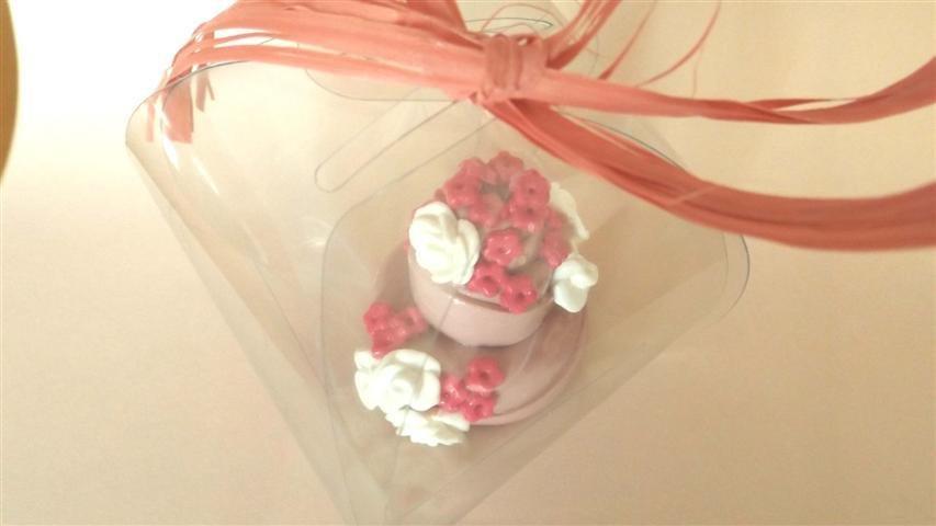 """MINI WEDDING CAKE - torta nuziale segnaposto bomboniera matrimonio FIMO - MODELLO  """"  EMILY """""""