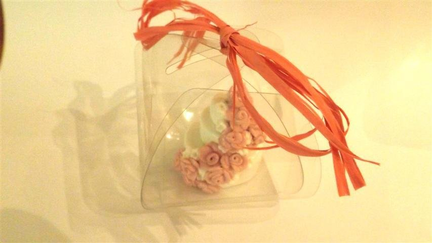 "MINI WEDDING CAKE - torta nuziale segnaposto bomboniera matrimonio FIMO - MODELLO  ""  LUCY  """