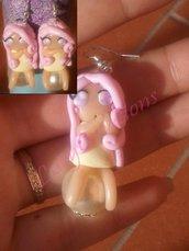 Orecchini ninfa su perla versione rosa