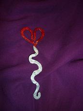 Segnalibro cuore - nuvoletta in ferro battuto