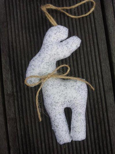 Decorazione natale bianco/argento - renne di Natale Alfonzo
