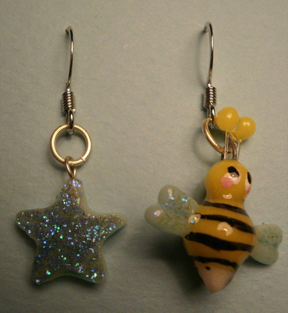 """orecchini """"ape e stella"""""""